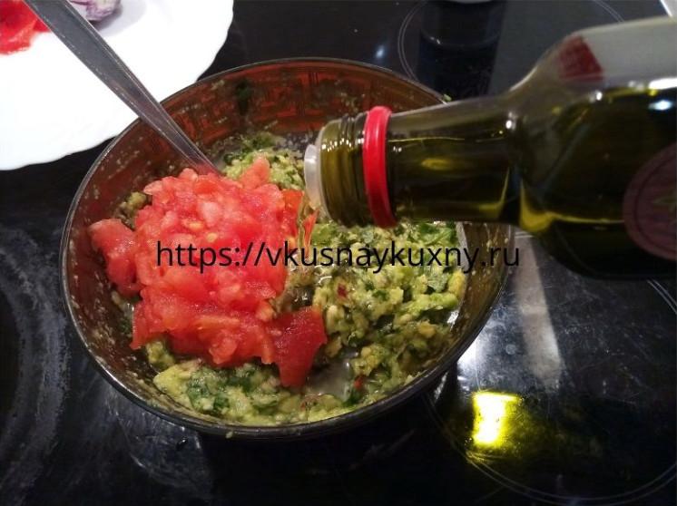Гуакамоле рецепт классический с авокадо и помидорами пошагово