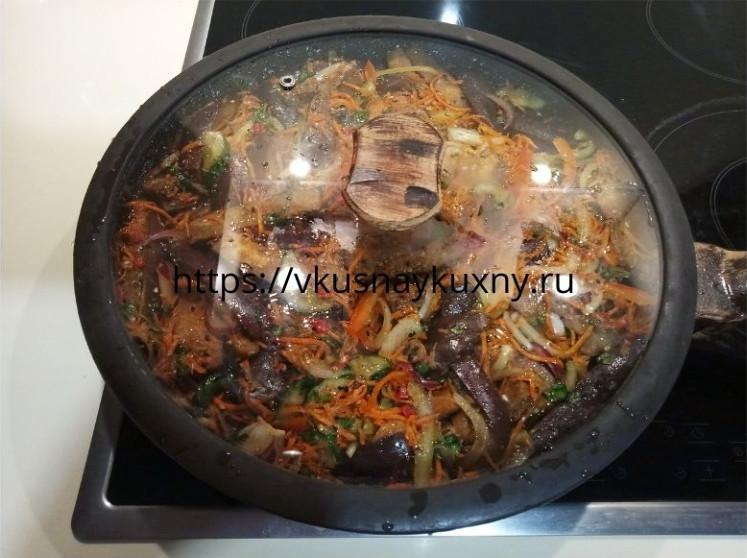 Хе из баклажан по корейски рецепт пошаговый