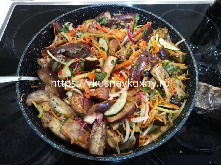 Салат баклажаны по корейски быстрого приготовления рецепт пошаговый