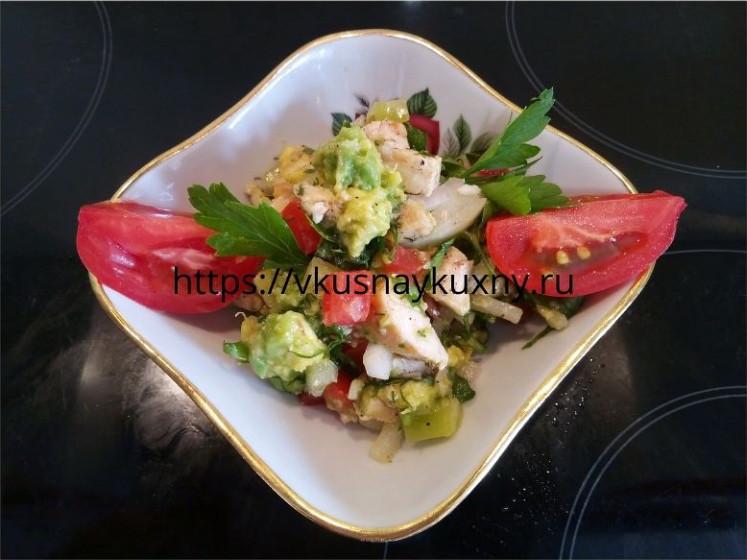 Салат с авокадо и курицей рецепт с фото пошаговым