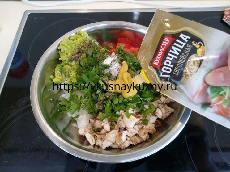 Салат с авокадо и куриной грудкой фото пошаговые