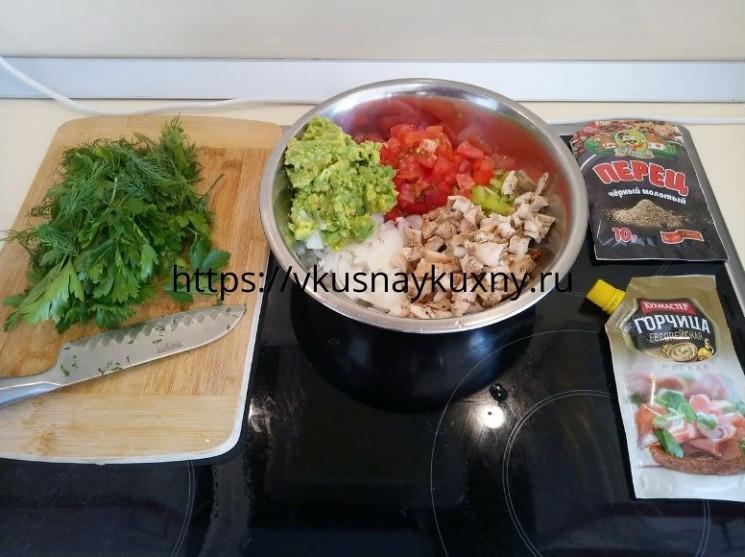 Салат с авокадо и куриной грудкой рецепты с фото простые и вкусные