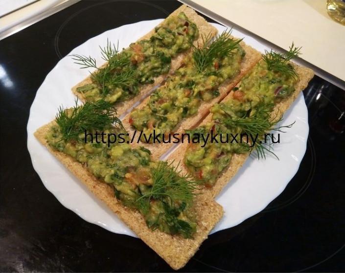 Соус гуакамоле рецепт и подача на хлебцах
