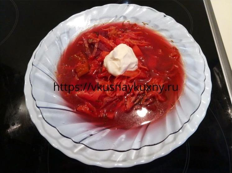 Борщ без мяса рецепт пошаговый с фото постный