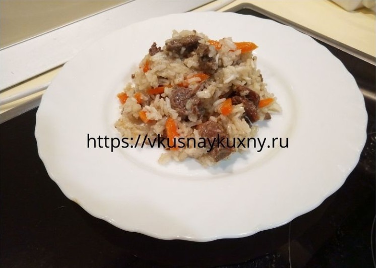 Рецепт узбекского плова с говядиной на сковороде
