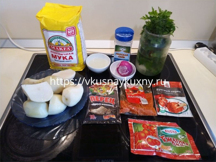 Гёзлеме из картошки быстро и вкусно ингредиенты