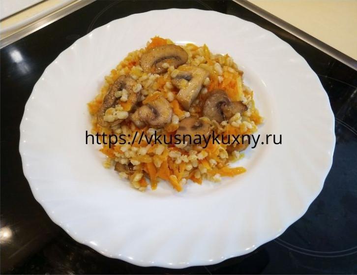 Перловая каша с грибами и луком рецепт пошаговый