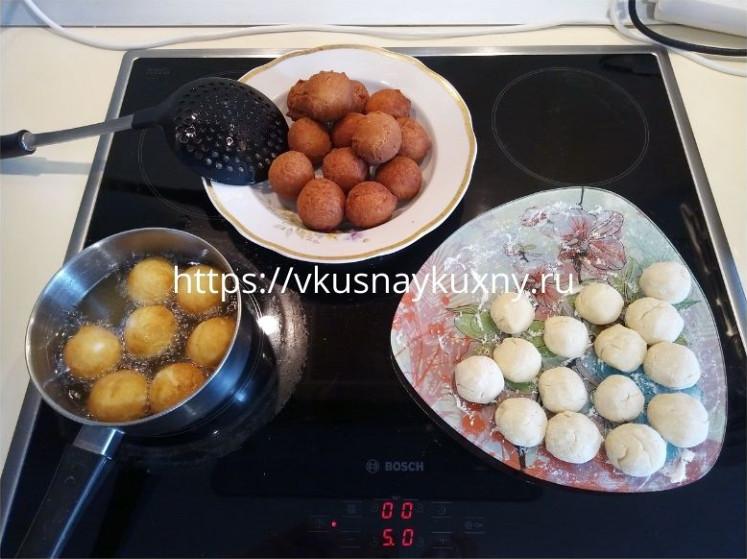 Творожные шарики во фритюре рецепт пошаговый