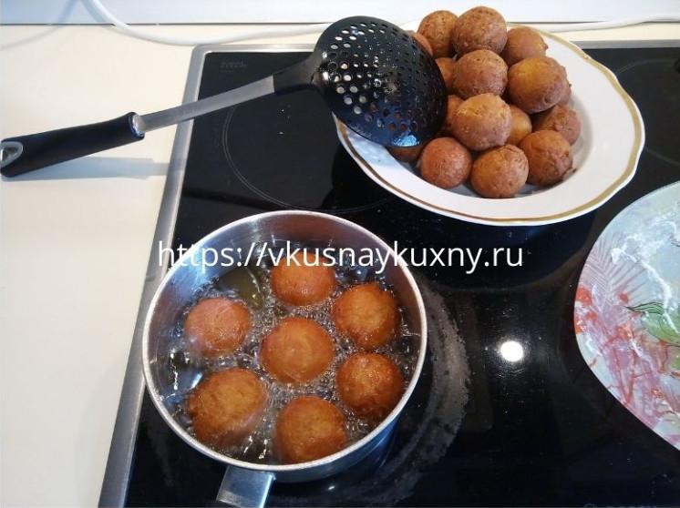 Творожные шарики жареные в масле рецепт пошаговый