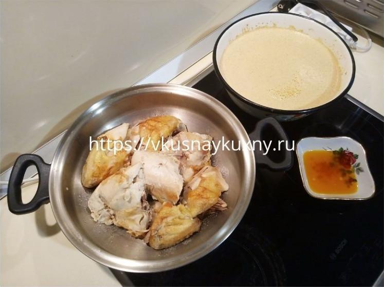 Сациви из курицы по грузински пошаговый рецепт с фото с грецкими орехами