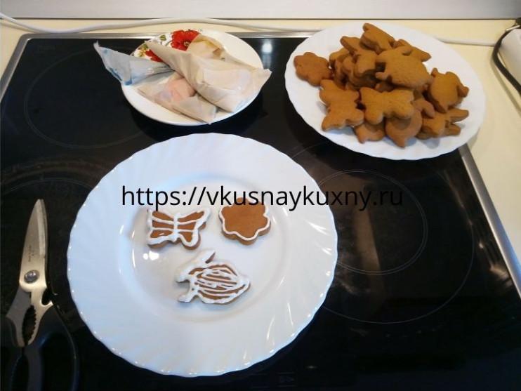 Имбирное печенье мягкое с глазурью