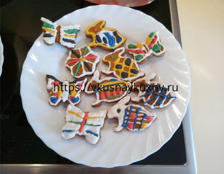 Имбирное печенье простой рецепт с глазурью