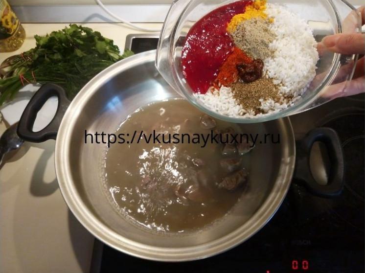 Суп харчо из говядины с рисом классический пошаговый рецепт пошаговый