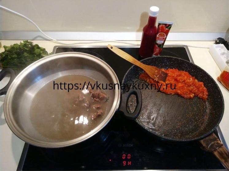 Суп харчо из говядины с ткемали рецепт пошаговый