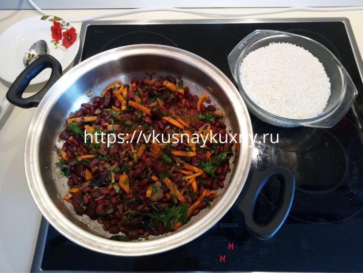 Чиляв рецепт рис с фасолью и мясом