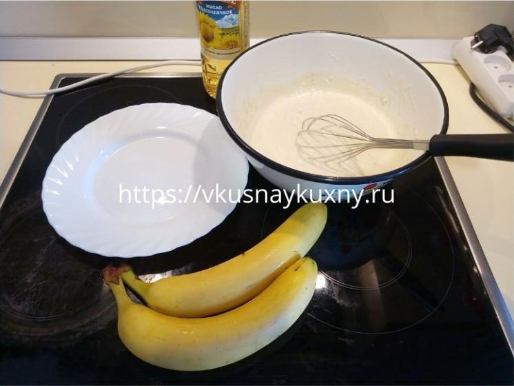 Банановые оладьи рецепт с фото пошагово на кефире