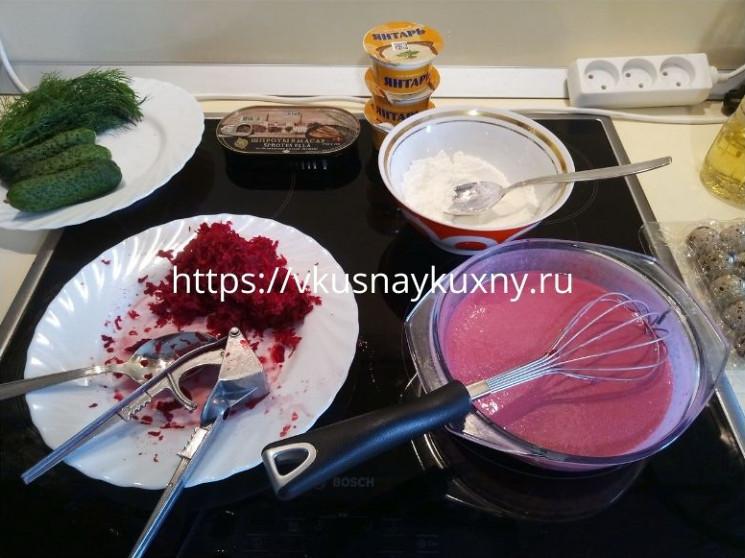 Блины из свеклы рецепт с фото пошаговый