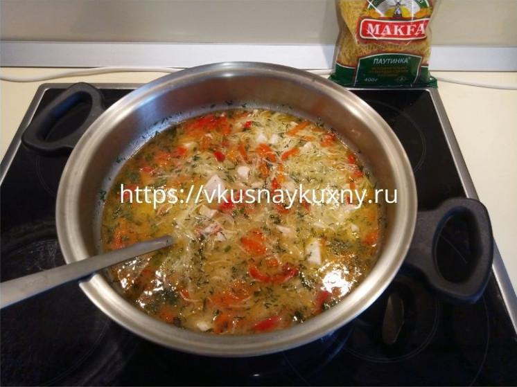 Куриный суп с вермишелью рецепт без картошки и без моркови