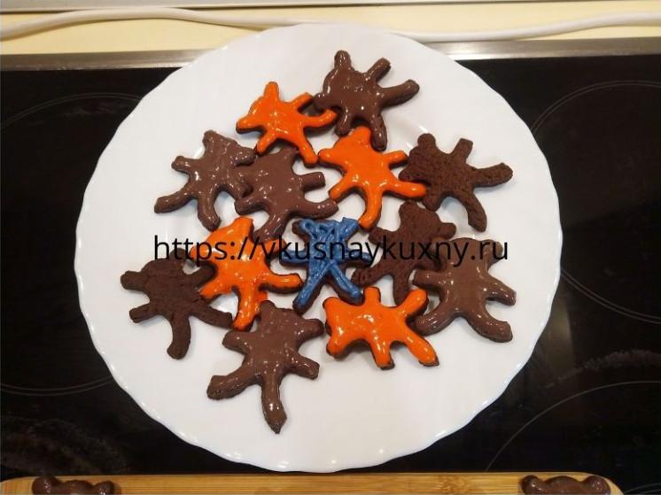 Печенье в шоколадной глазури рецепт с какао