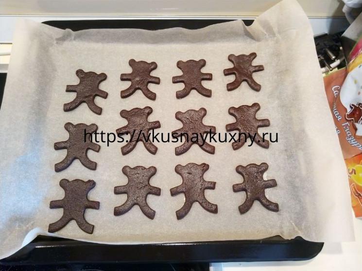 Шоколадное печенье фигурное с какао