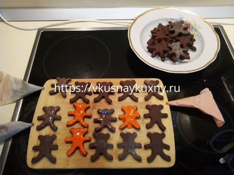 Шоколадное печенье шоколадное с какао