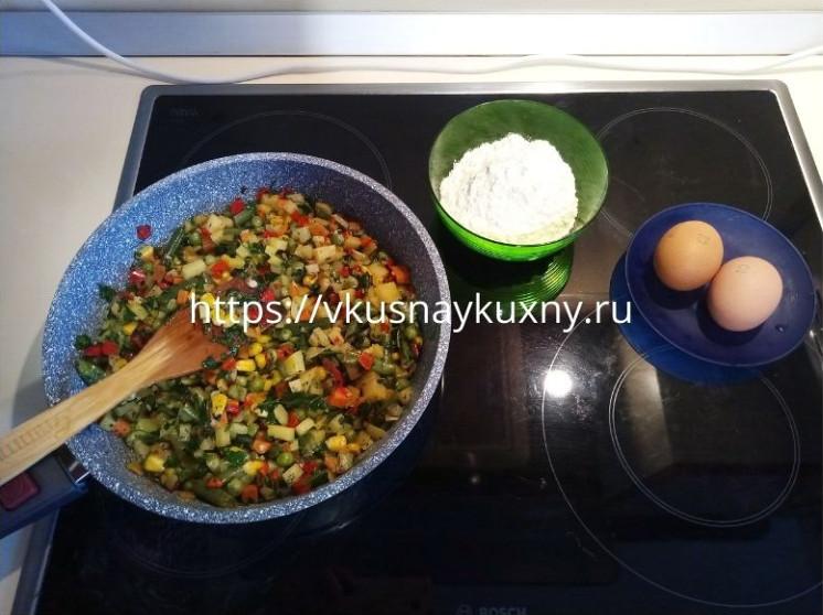 Вкусная овощная запеканка с картошкой