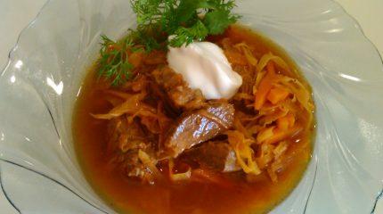 Рецепт щей из квашеной капусты с говядиной