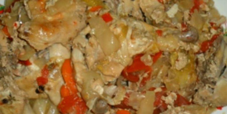 Курица в банке в духовке