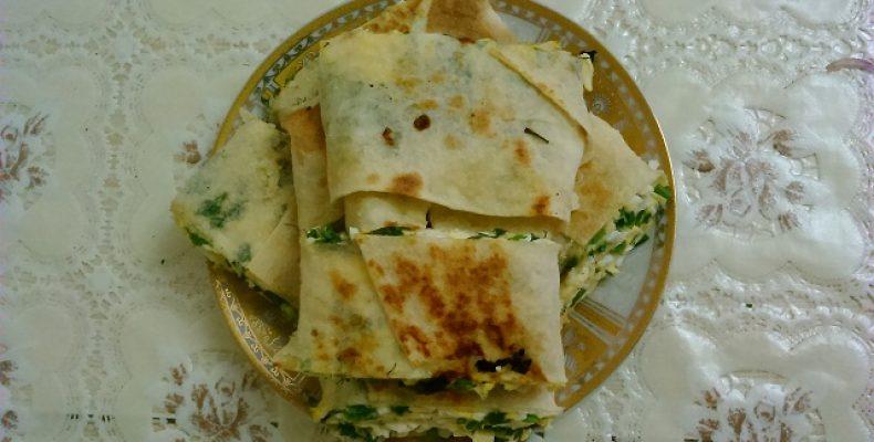 Рулет из лаваша с сыром и зеленью