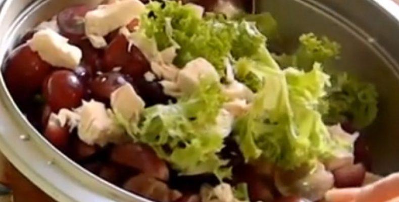 Салат из сельдерея стеблевого с куриным филе
